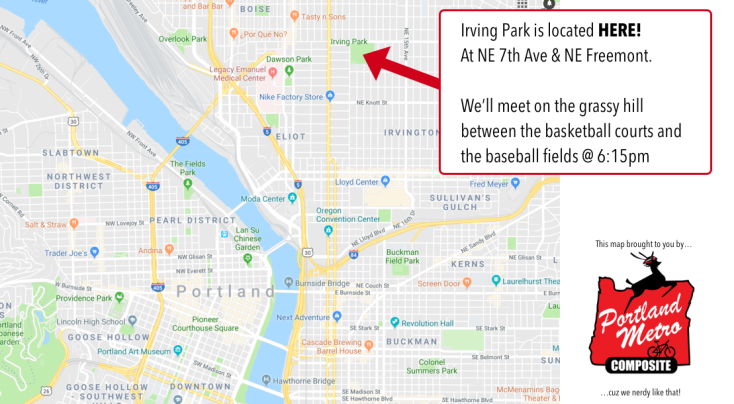 Irving Park Team Meeting Map