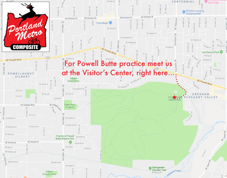 Powell Butte Practice Map